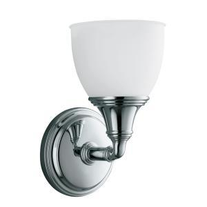Lighting - KOHLER Devonshire Collection 1-Light Polished Chrome Wall Sconce - K-10570-CP at The Home Depot - bathroom, wall scones