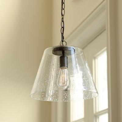 Kendall Seeded Glass Pendant Ballard Designs