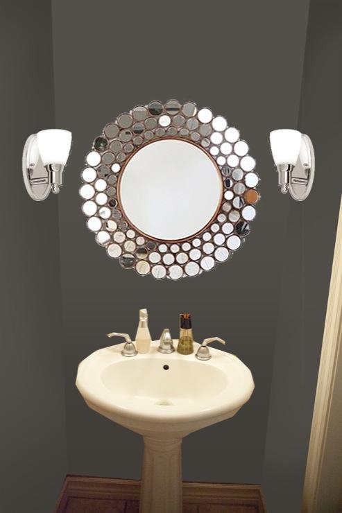 View Post Powder Room Mirror