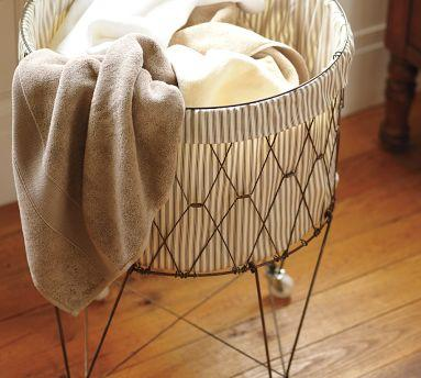 French Wire Hamper Amp Liner Pottery Barn