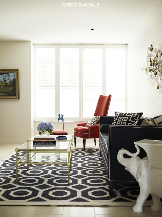 ceramic elephant stool  contemporary  living room  greg