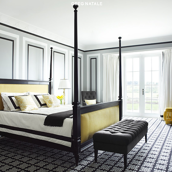 Yellow and Black Bedroom, Contemporary, bedroom, Greg Natale