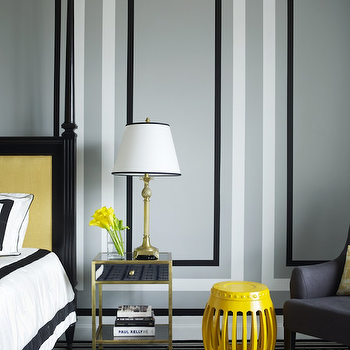 Gray and Yellow Bedrooms, Contemporary, bedroom, Greg Natale