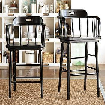 Seating - Captain's Swivel Barstool | Pottery Barn - captains, swivel, bar stools