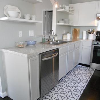 Kitchen Pass Through, Transitional, kitchen