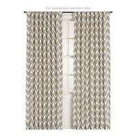 Window Treatments - Teramo Curtain Panel | Crate&amp;Barrel - zigzag, chevron, window panels, drapes