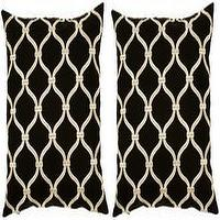 Pillows - Surya Black and Gold 18 - black, gold, throw pillows,