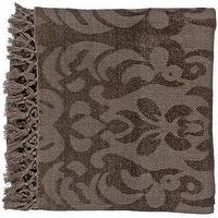 Bedding - Surya Tristen Gray Plum Throw Blanket | LampsPlus.com - blanket, grey, plum,