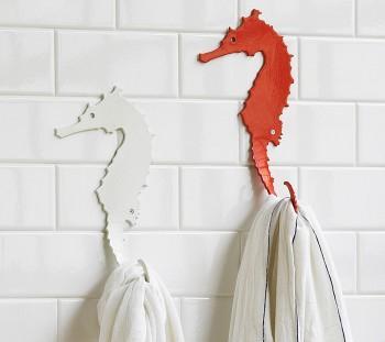 Bath - Seahorse Hook - VivaTerra - seahorse, hooks