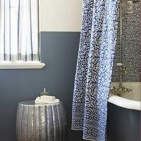 Bath - Indigo Shower Curtain - VivaTerra - indigo, shower curtain