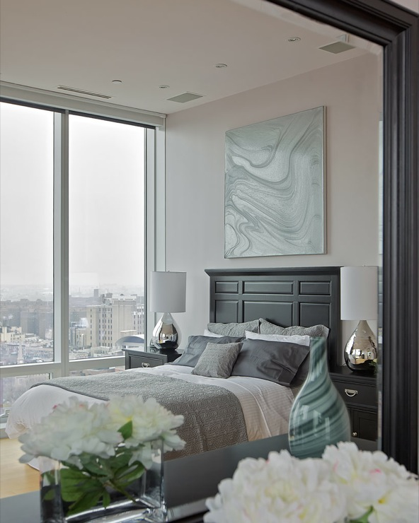 Purple Gray Paint Color, Contemporary, bedroom, Benjamin Moore raspberry ice, Marie Burgos Design