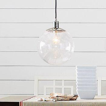 Lighting - Globe Pendant | west elm - clear, glass, globe, pendant