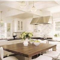 Zoldan Interiors - kitchens - modern square, kitchen island, butcher block, countertops, pot filler, marble, subway tiles, backsplash, farmhouse, sink, butcher block, butcher block countertops, butcher block kitchen island, butcher block island,