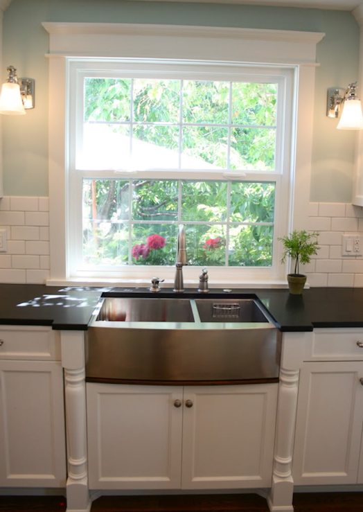 Stainless Steel Dual Apron Sink Traditional Kitchen