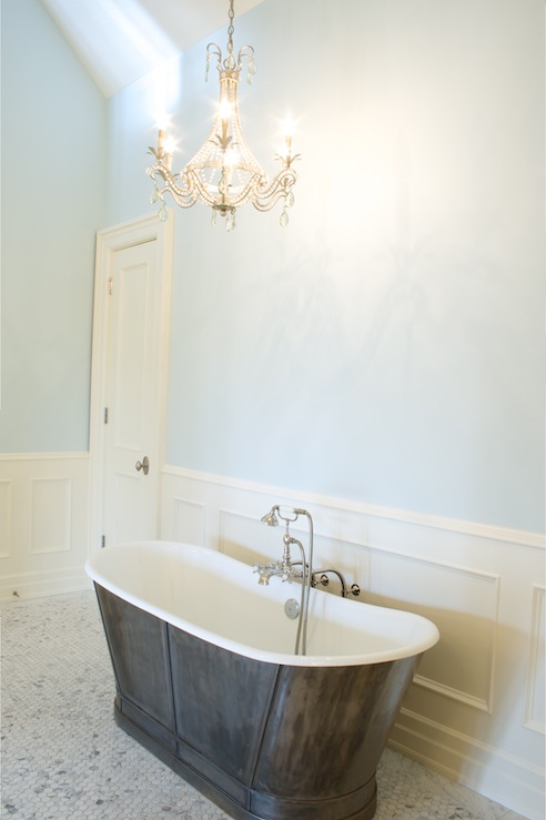 Master Bathroom Wainscoting Transitional Bathroom
