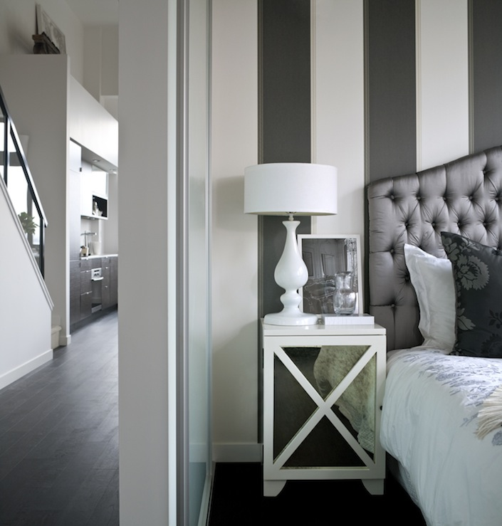 mirrored nightstand contemporary bedroom the cross