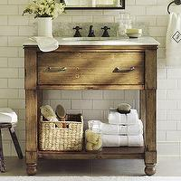 Bath - William Single Sink Console | Pottery Barn - rustic, William, Single Sink, Console