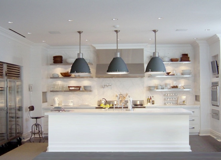 Gray Industrial Pendants Contemporary Kitchen Katch Id