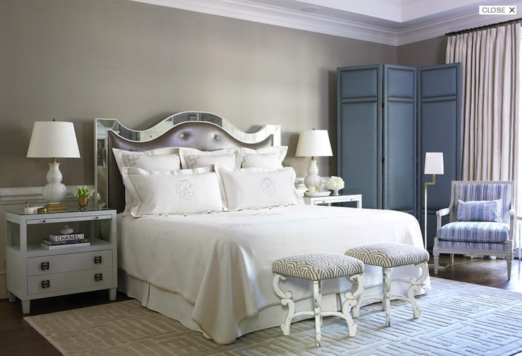 Mirror Headboard - French - bedroom - Courtney Hill Interiors