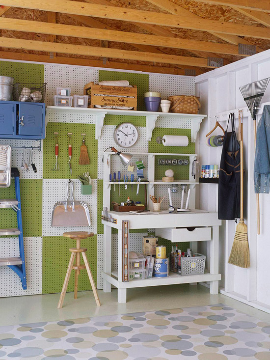 Garage Peg Boards Traditional Garage Martha Stewart