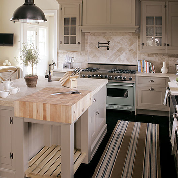 Striped Kitchen Runner, Transitional, kitchen, Bakes and Company