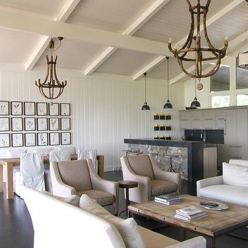 Living Room Vaulted Ceiling Design Decor Photos