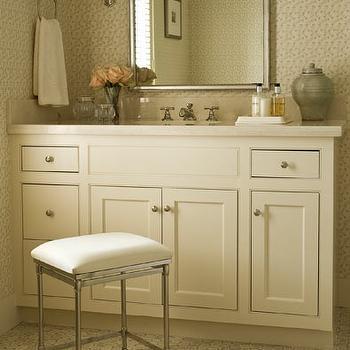 White And Blue Bathroom Contemporary Bathroom