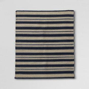 Rugs - Wool Dhurrie Throw Rug from Lands' End - striped, rug
