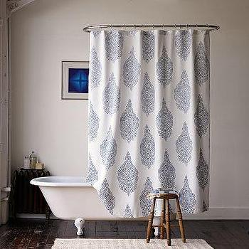 Bath - Medallion Shower Curtain | west elm - medallion, shower curtain
