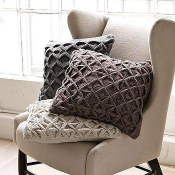Sculpted Origami Pillow Cover, west elm
