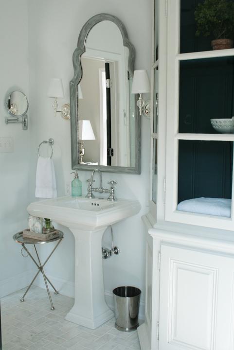 Gray Washed Mirror Vintage Bathroom Rachel Bishop