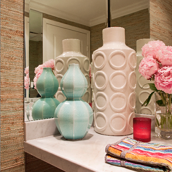 Turquoise Gourd Vase, Transitional, bathroom, Armonia Decors