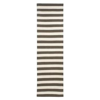 Rugs - DwellStudio | DRAPER STRIPE MAJOR BROWN/CREAM RUG 2.5 X 9 - Rugs - New Arrivals - stripe, draper, rug