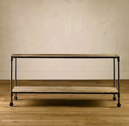 Restoration Hardware Dutch Industrial Console Table Look 4 Less