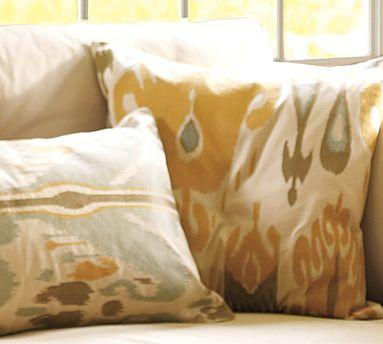 Ikat Embroidered Pillow Cover | Pottery Barn
