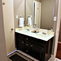 miscellaneous - Behr Fashion Gray, brown, gray, walls, espresso, bathroom, vanity,  knightmovesblog.blogspot.com  warm gray walls with espresso