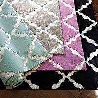Rugs - Lattice Rug | PBteen - gray, rug