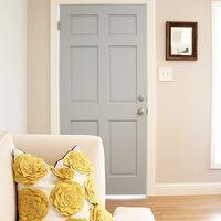 Gray front door transitional porch benjamin moore - Benjamin moore wedgewood gray living room ...