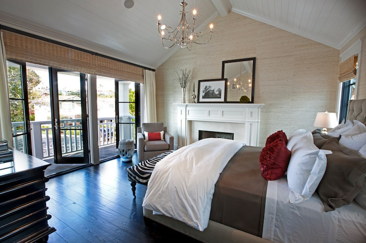Layered window treatments contemporary bedroom spinnaker development