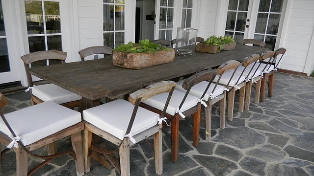 Meridith Baer & Associates - decks/patios - trestle dining table