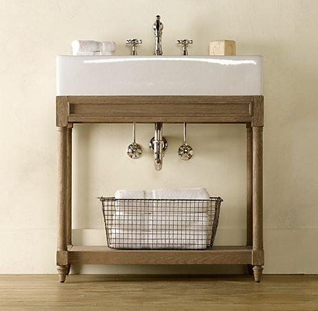 Weathered Oak Single Console Sink | Weathered Oak | Restoration