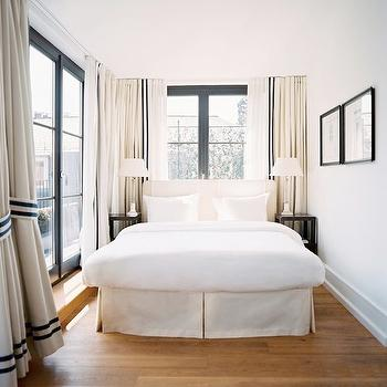 Lonny Magazine - bedrooms - bed in front of window, beds in front of window, headboards in front of window,  Michele Bonan - Chic city narrow
