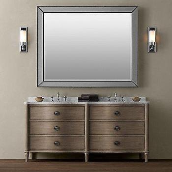 Empire Rosette Double Vanity Sink, Double Vanities & Washstands, Restoration Hardware