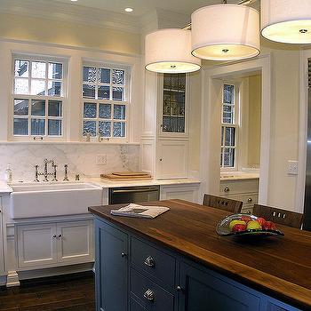 Blue Center Island, Transitional, kitchen, Cream City Construction