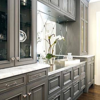 Gray Kitchen Cabinets, Transitional, kitchen, Atlanta Homes & Lifestyles
