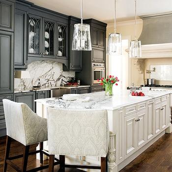 Damask Bar Stools, Transitional, kitchen, Atlanta Homes & Lifestyles