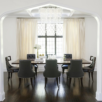 Gray Dining Chairs, Contemporary, dining room, Kwinter Design
