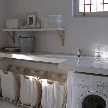 Chez Larsson - laundry/mud rooms - laundry bins, laundry room, laundry room design, laundry room bins, laundry bins, laundry sorter, laundry room sorter, laundry bin ideas, laundry room bin ideas, laundry sorter ideas, laundry room sorter ideas,