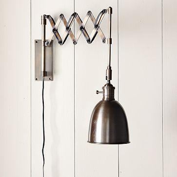 accordion sconce west elm. Black Bedroom Furniture Sets. Home Design Ideas
