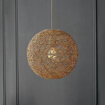 Small Woven Wire Pendant Lamp I Anthropologie Com